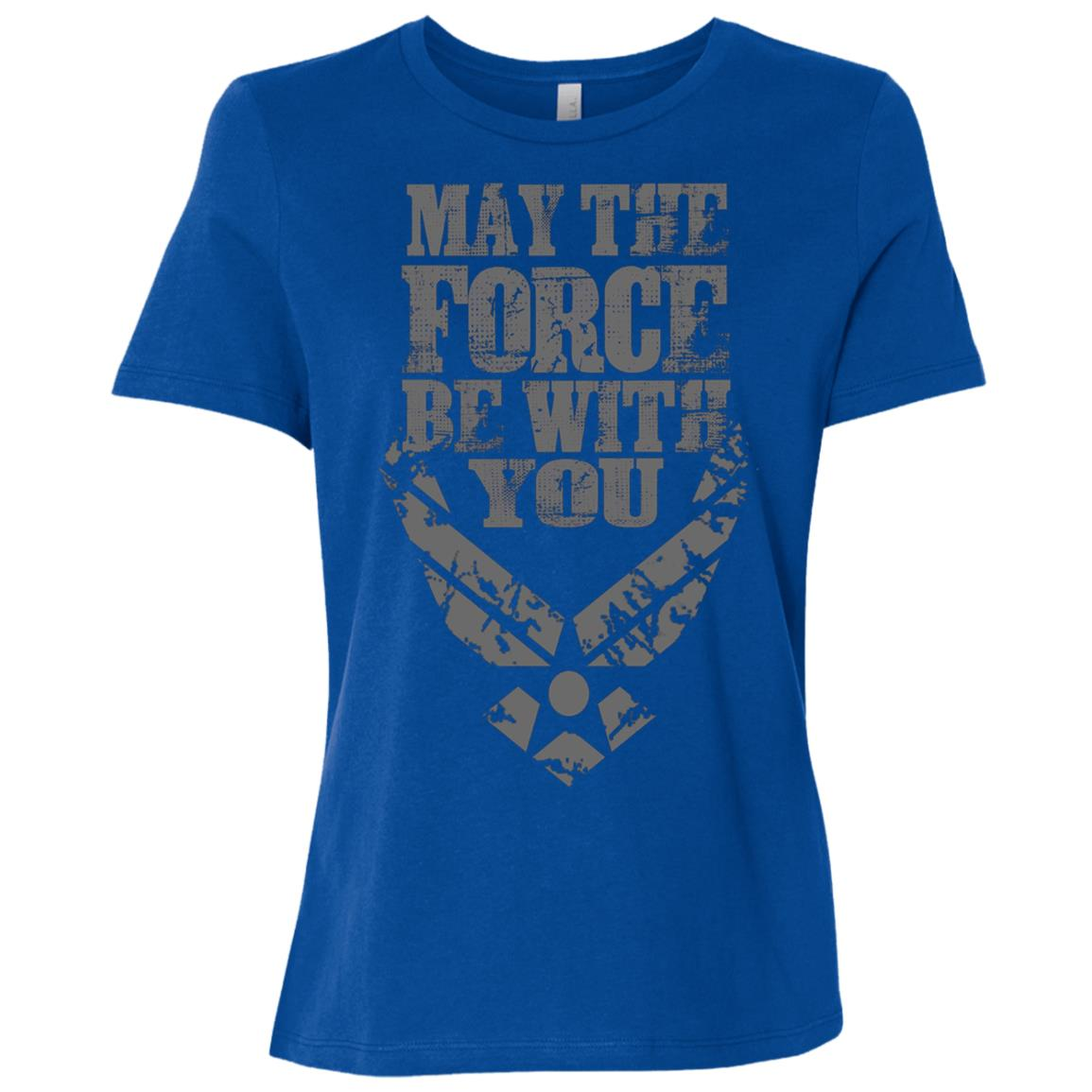 U.S. Air Force Funny Force Logo USAF GIFT Women Short Sleeve T-Shirt
