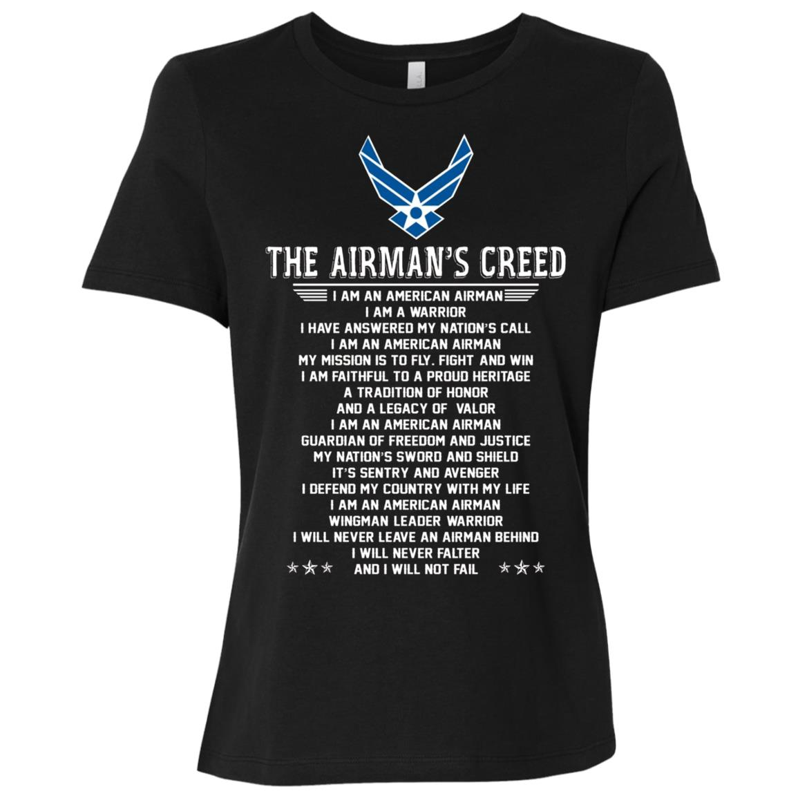 The Airman's Creed Women Short Sleeve T-Shirt