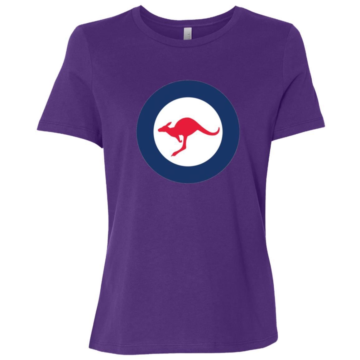 Stylized Vintage Roundel flag Insignia of Australia Women Short Sleeve T-Shirt