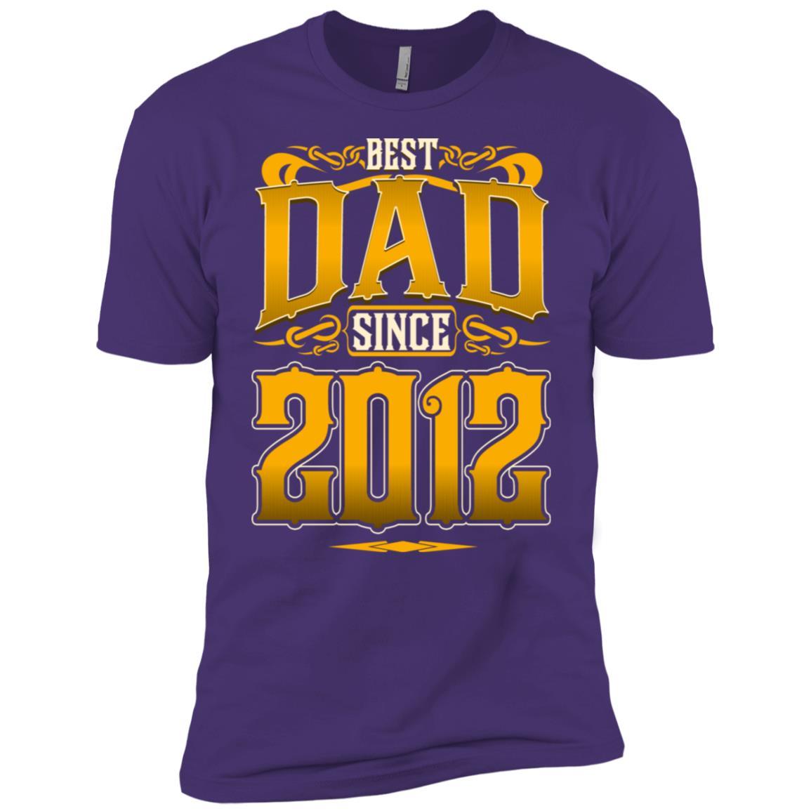 Best Dad Since 2012 I Love Stepdad Men Short Sleeve T-Shirt