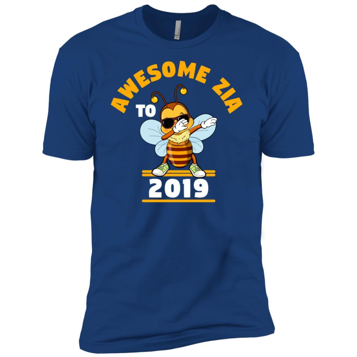 Aunt To Be 2019 Zia Dabbing Bee Men Short Sleeve T-Shirt
