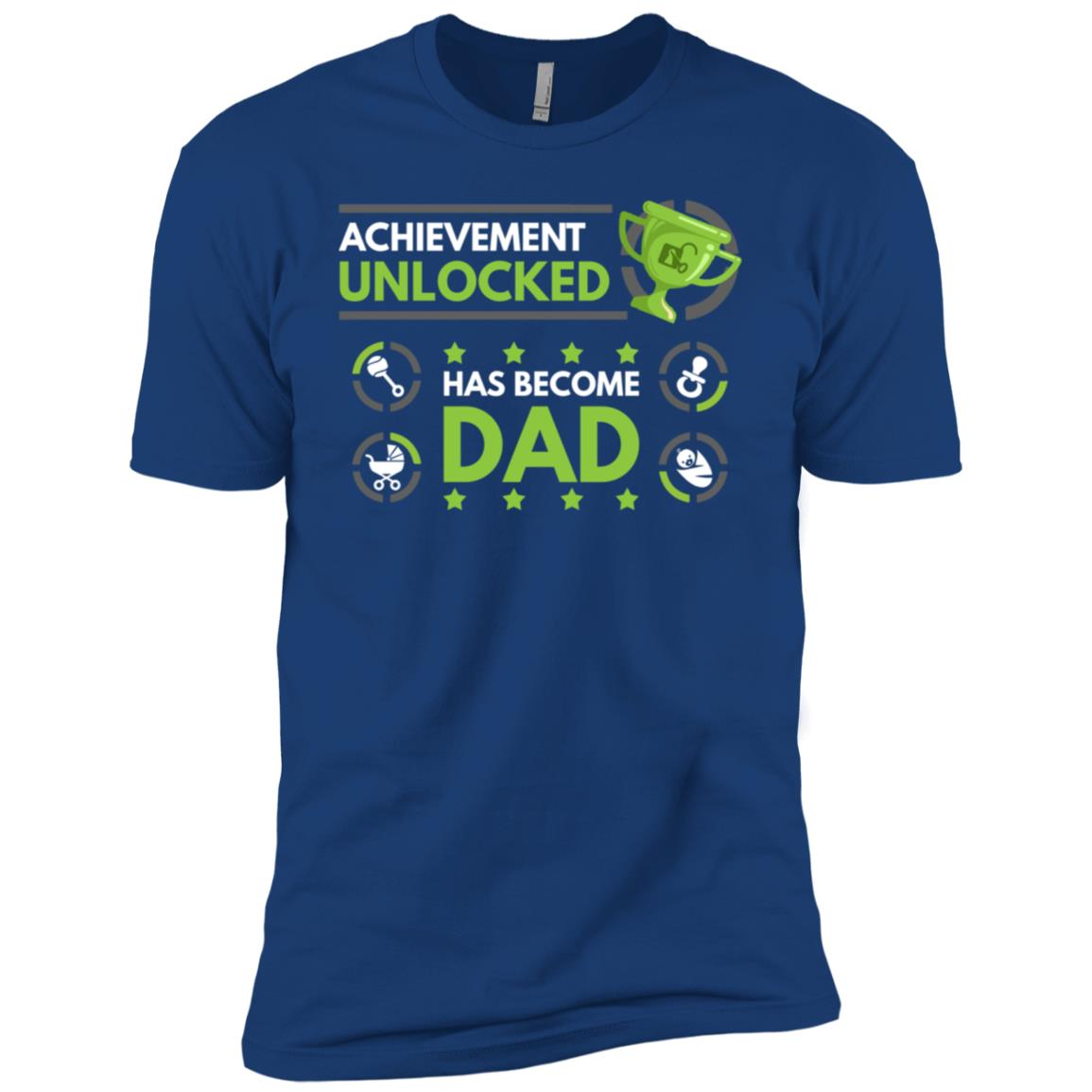 Achievement Unlocked Fatherhood Daddy Est 2018 Gift-1 Men Short Sleeve T-Shirt