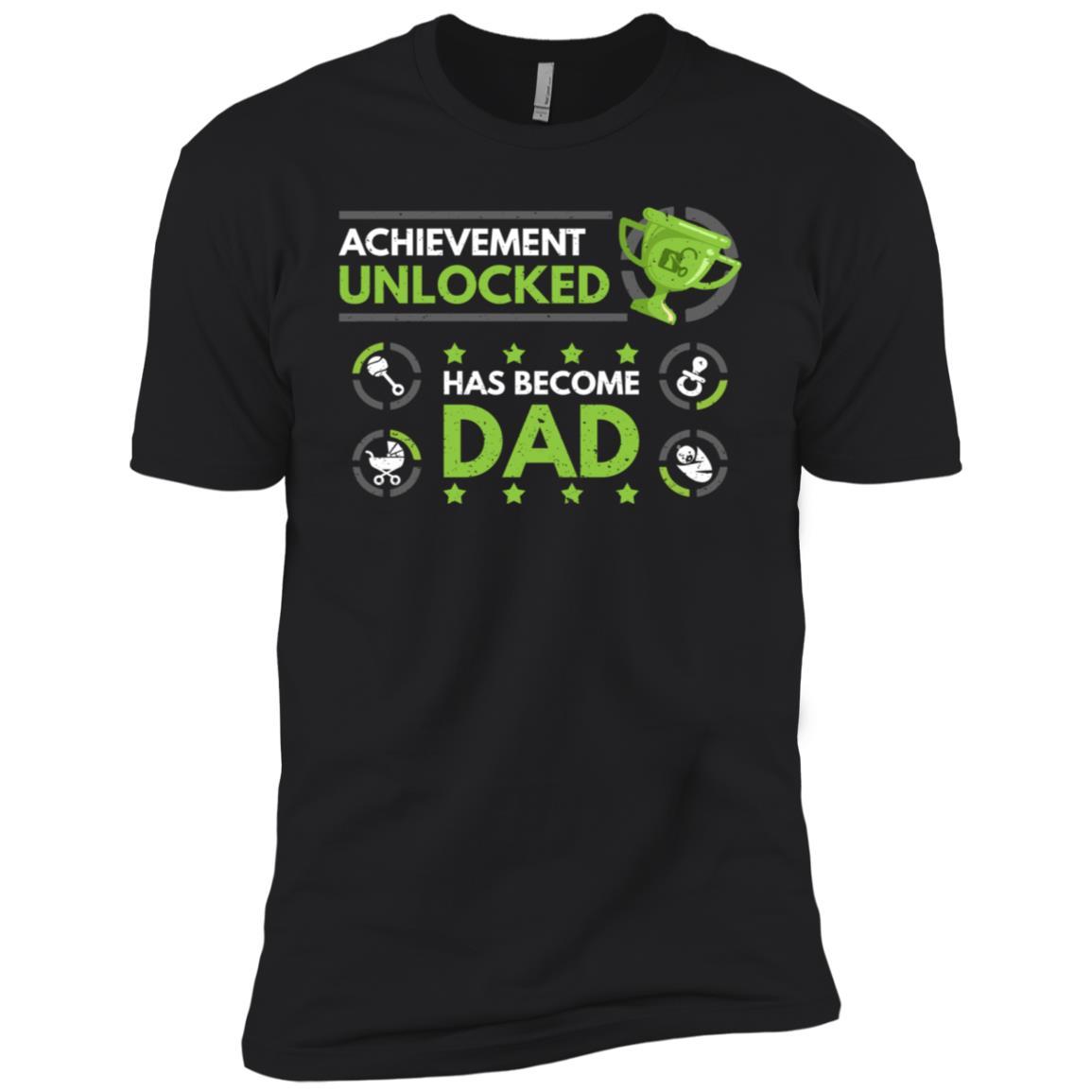 Achievement Unlocked Fatherhood Daddy Est 2018 Gift Men Short Sleeve T-Shirt