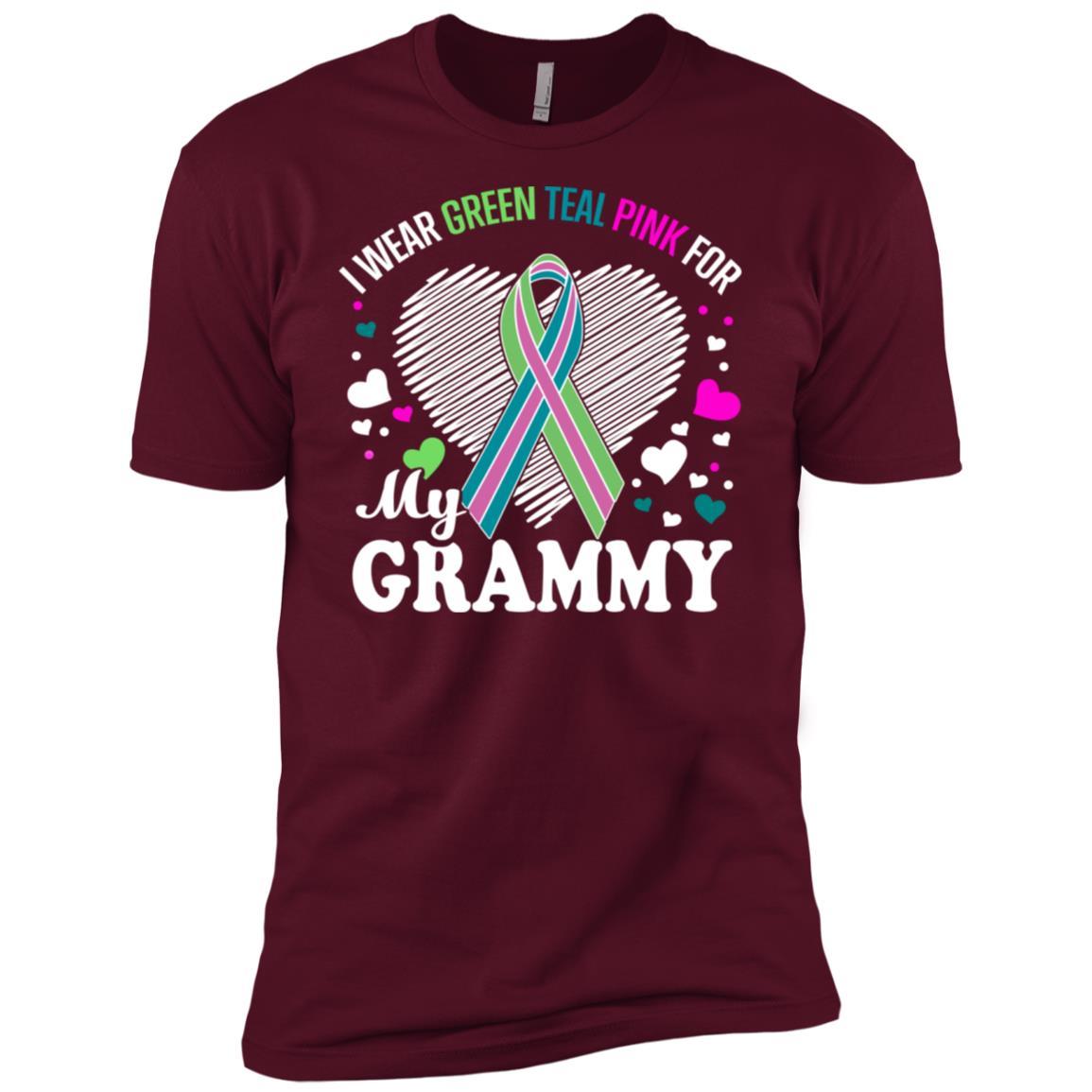 I Wear For My Grammy Metastatic Breast Cancer Men Short Sleeve T-Shirt
