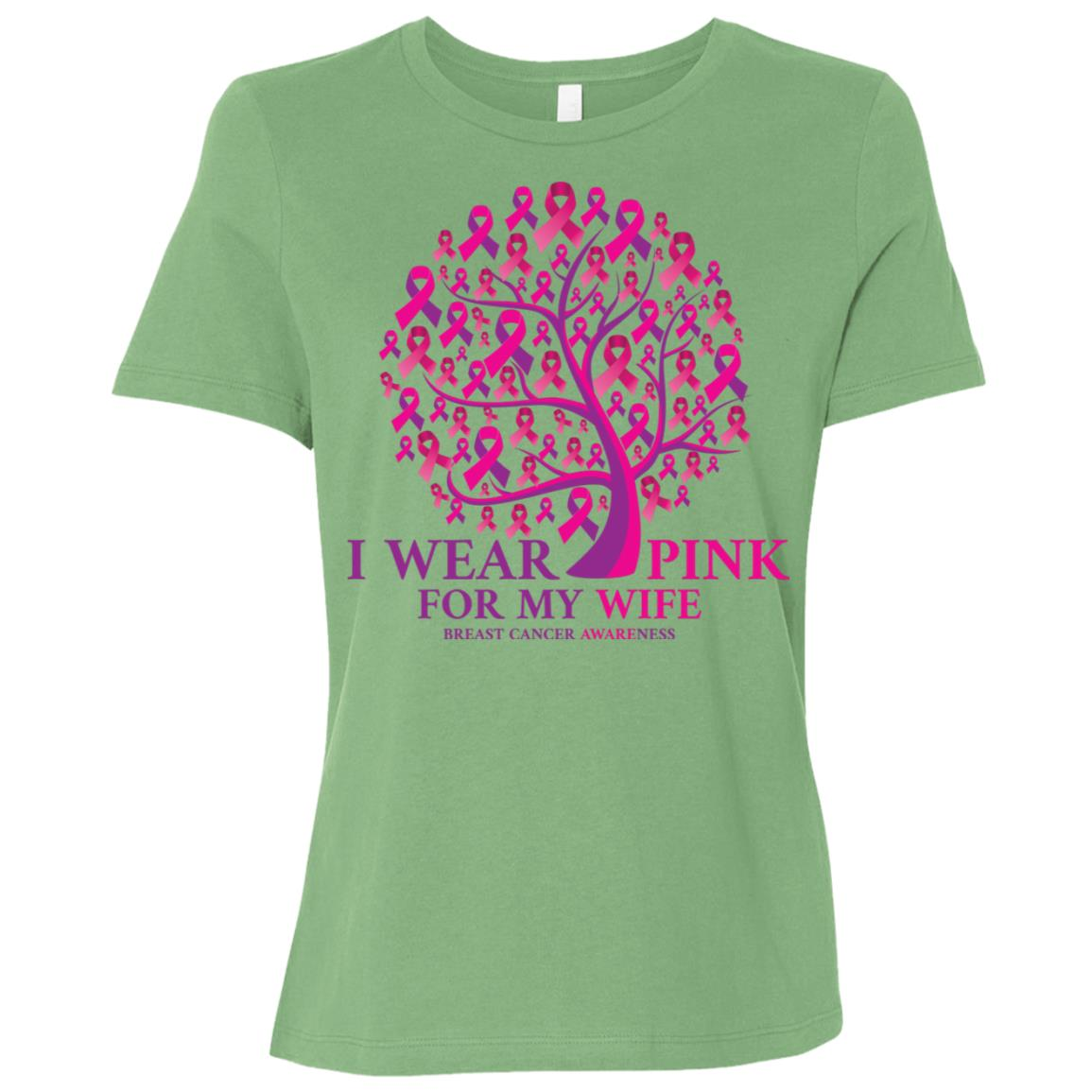 I Wear Pink For My Wife Breast Cancer Awareness-1 Women Short Sleeve T-Shirt