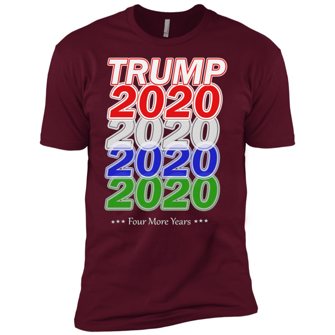 Trump Train 2020 Election Re Elect US Patriot Flag Gift T Men Short Sleeve T-Shirt