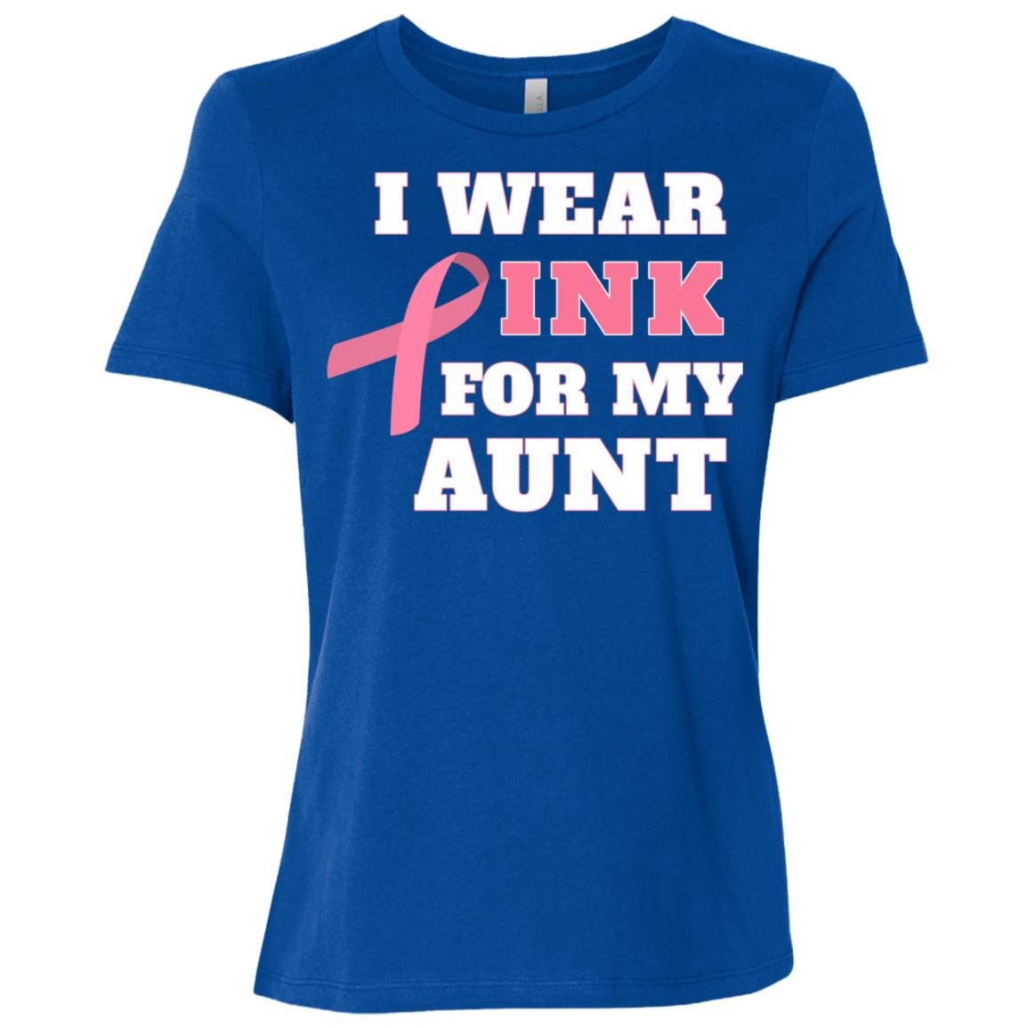 I Wear Pink For My Aunt Breast Cancer Women Short Sleeve T-Shirt