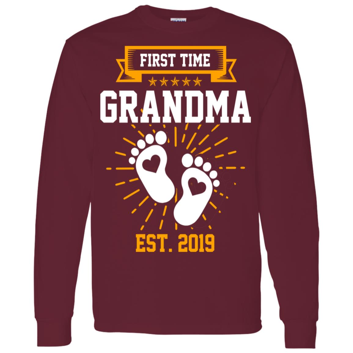 First Time Grandma Est 2019 Gift Men Long Sleeve T-Shirt