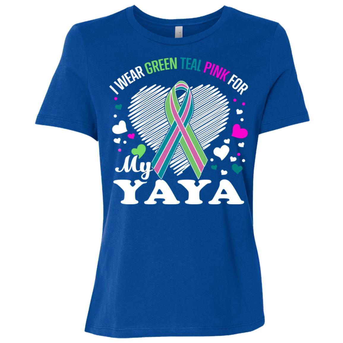 I Wear For My Yaya Metastatic Breast Cancer Women Short Sleeve T-Shirt