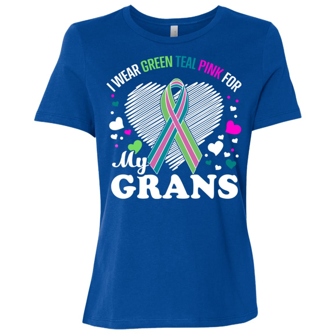 I Wear For My Grans Metastatic Breast Cancer Women Short Sleeve T-Shirt