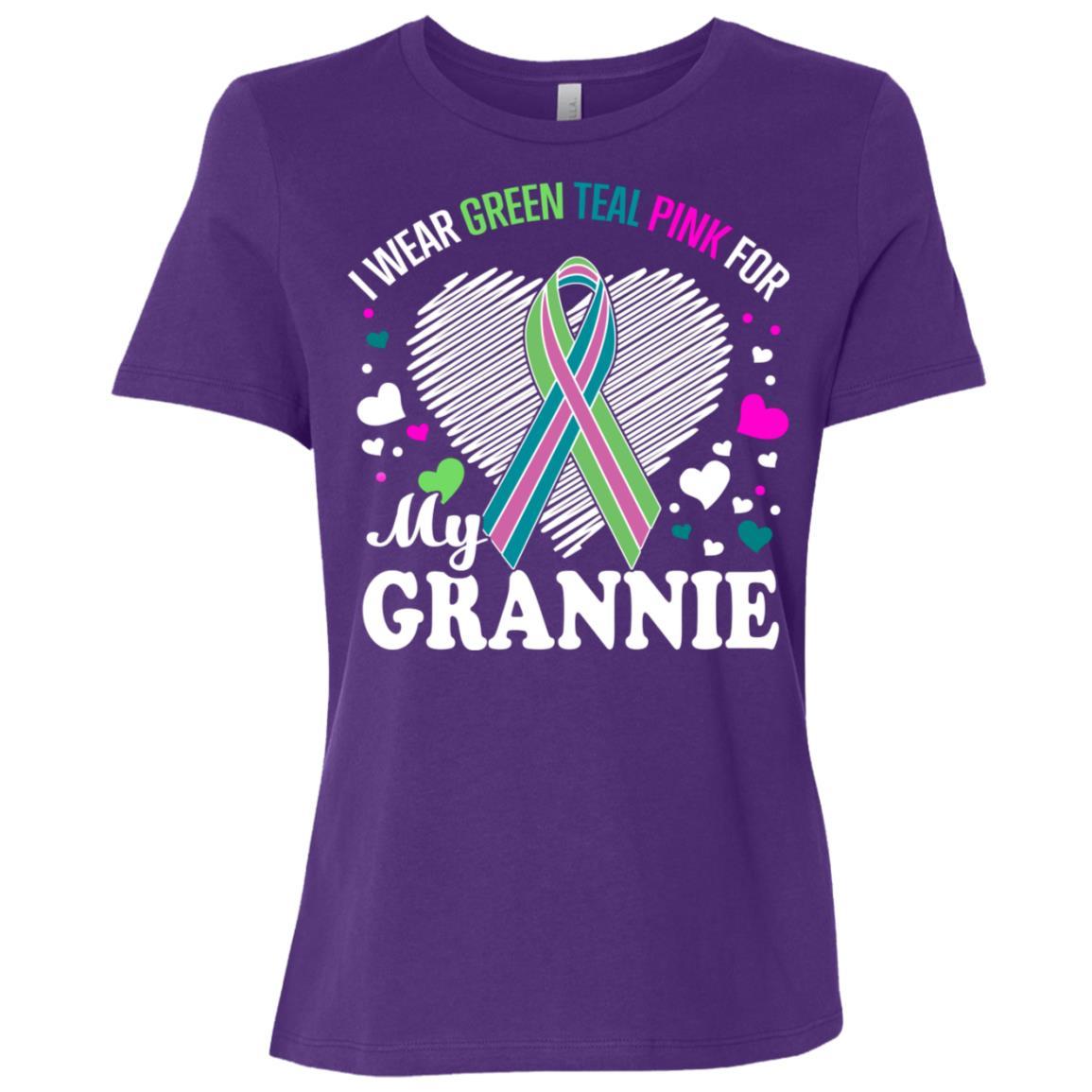 I Wear For My Grannie Metastatic Breast Cancer Women Short Sleeve T-Shirt
