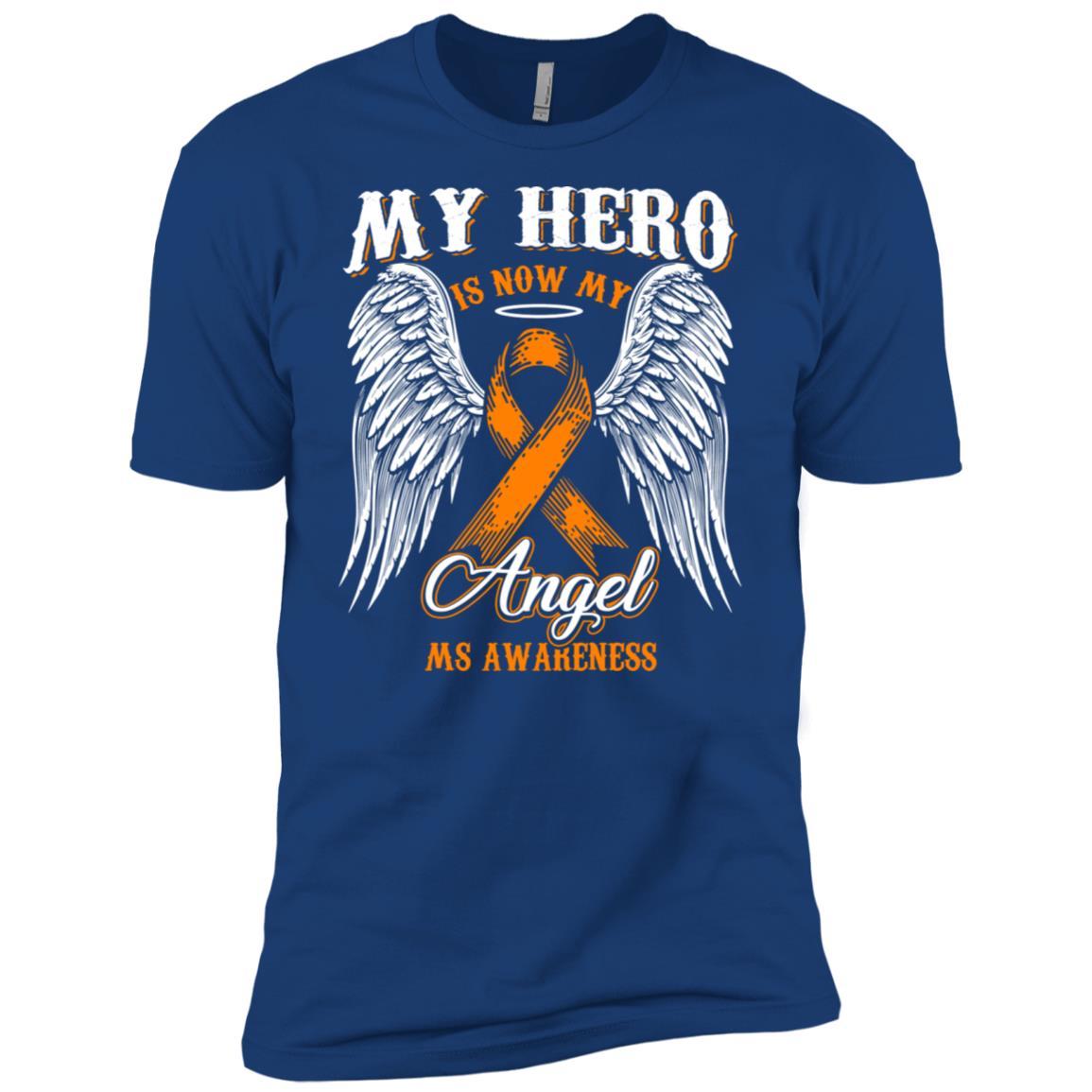 My Hero Is Now My Angel Ms Awareness Men Short Sleeve T-Shirt