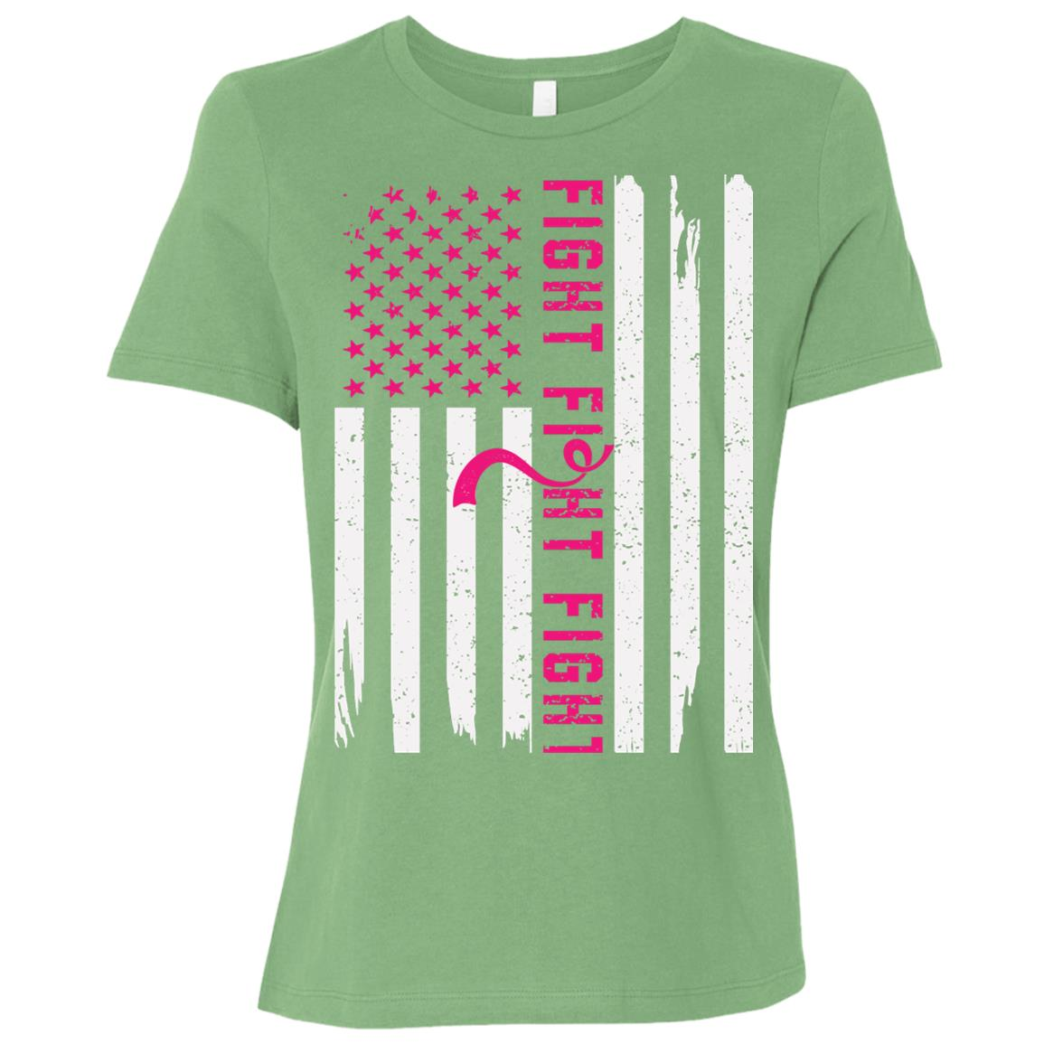 Men's American Flag Breast Cancer Awareness-1 Women Short Sleeve T-Shirt