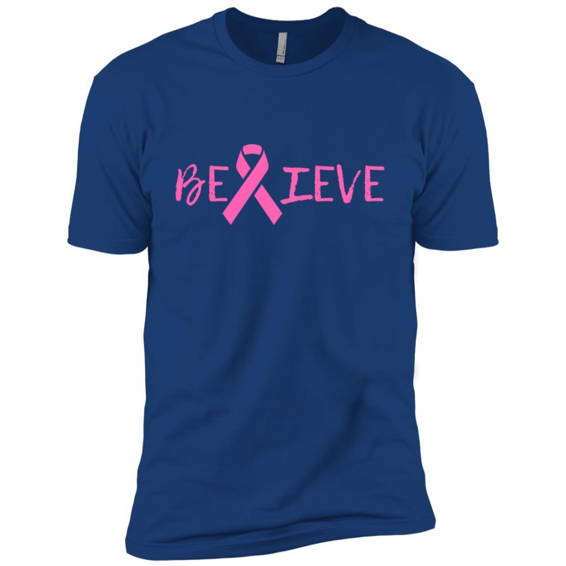 Summers Cancer – Believe Breast Cancer Men Short Sleeve T-Shirt