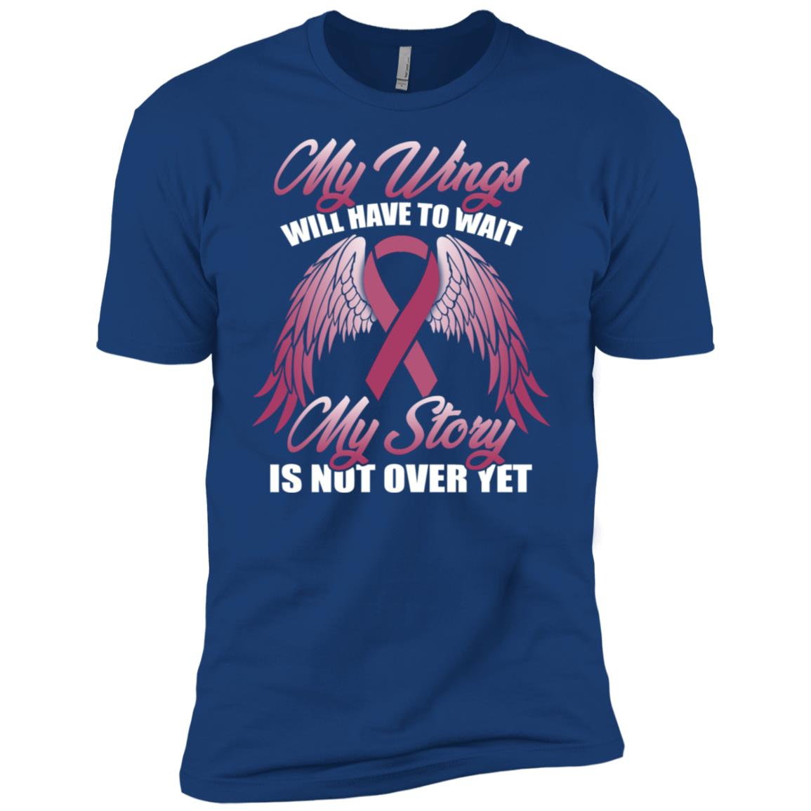My Wings Will Have To Wait Tee Breast Cancer Awareness Men Short Sleeve T-Shirt