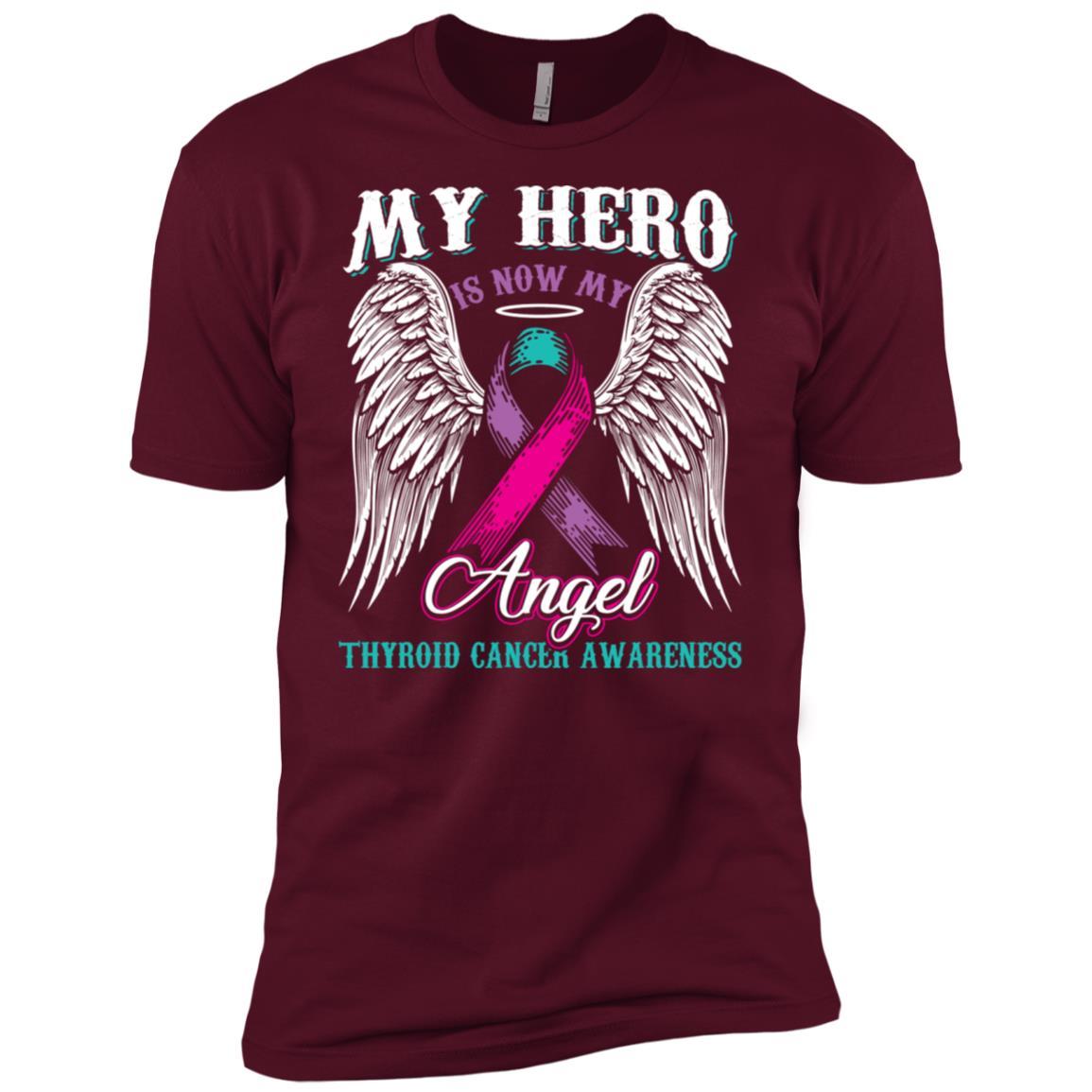 My Hero Is Now My Angel Thyroid Cancer Men Short Sleeve T-Shirt