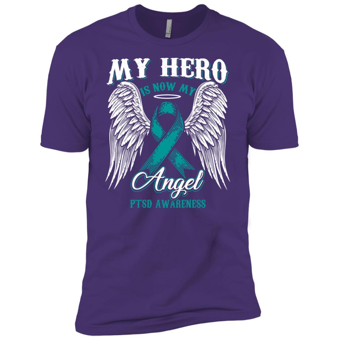 My Hero Is Now My Angel Ptsd Awareness Men Short Sleeve T-Shirt