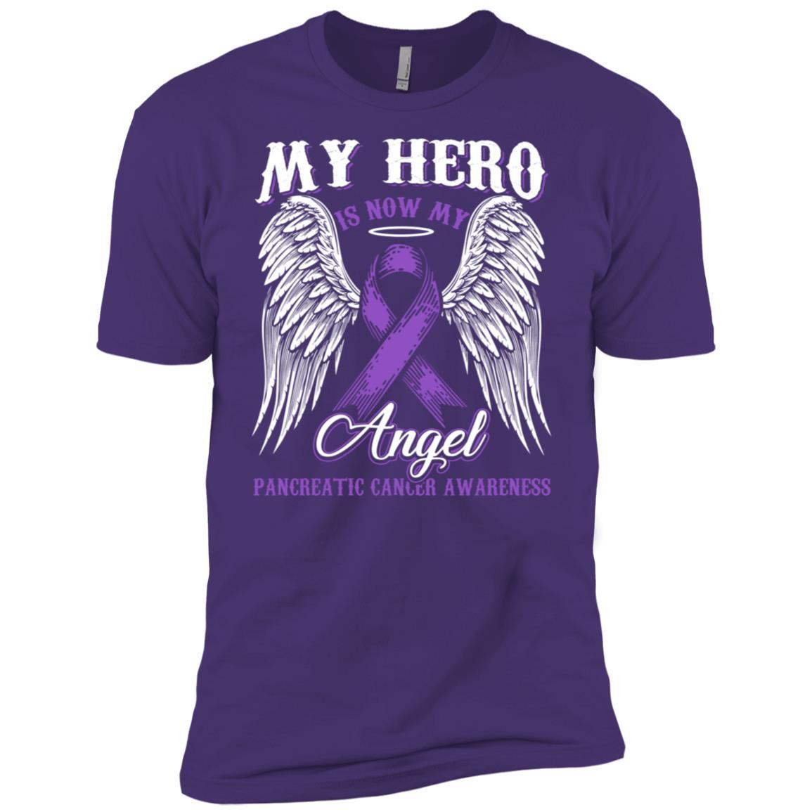 My Hero Is Now My Angel Pancreatic Cancer shir Men Short Sleeve T-Shirt