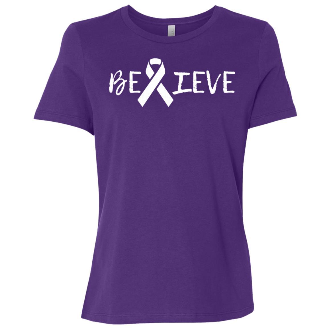Summers Cancer – Believe Cancer Women Short Sleeve T-Shirt