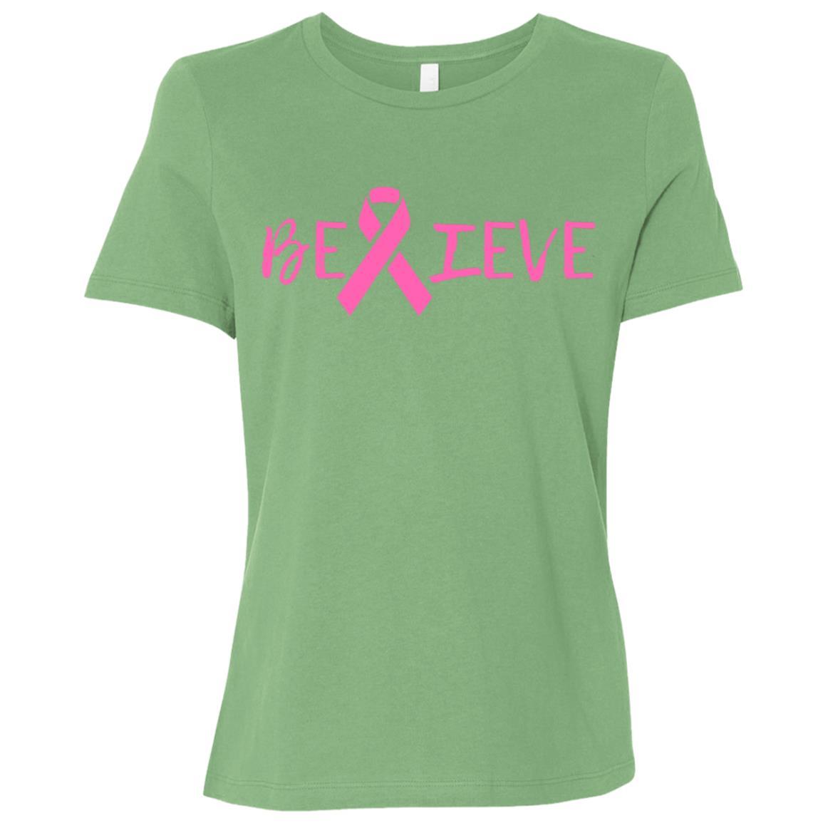 Summers Cancer - Believe Breast Cancer Women Short Sleeve T-Shirt