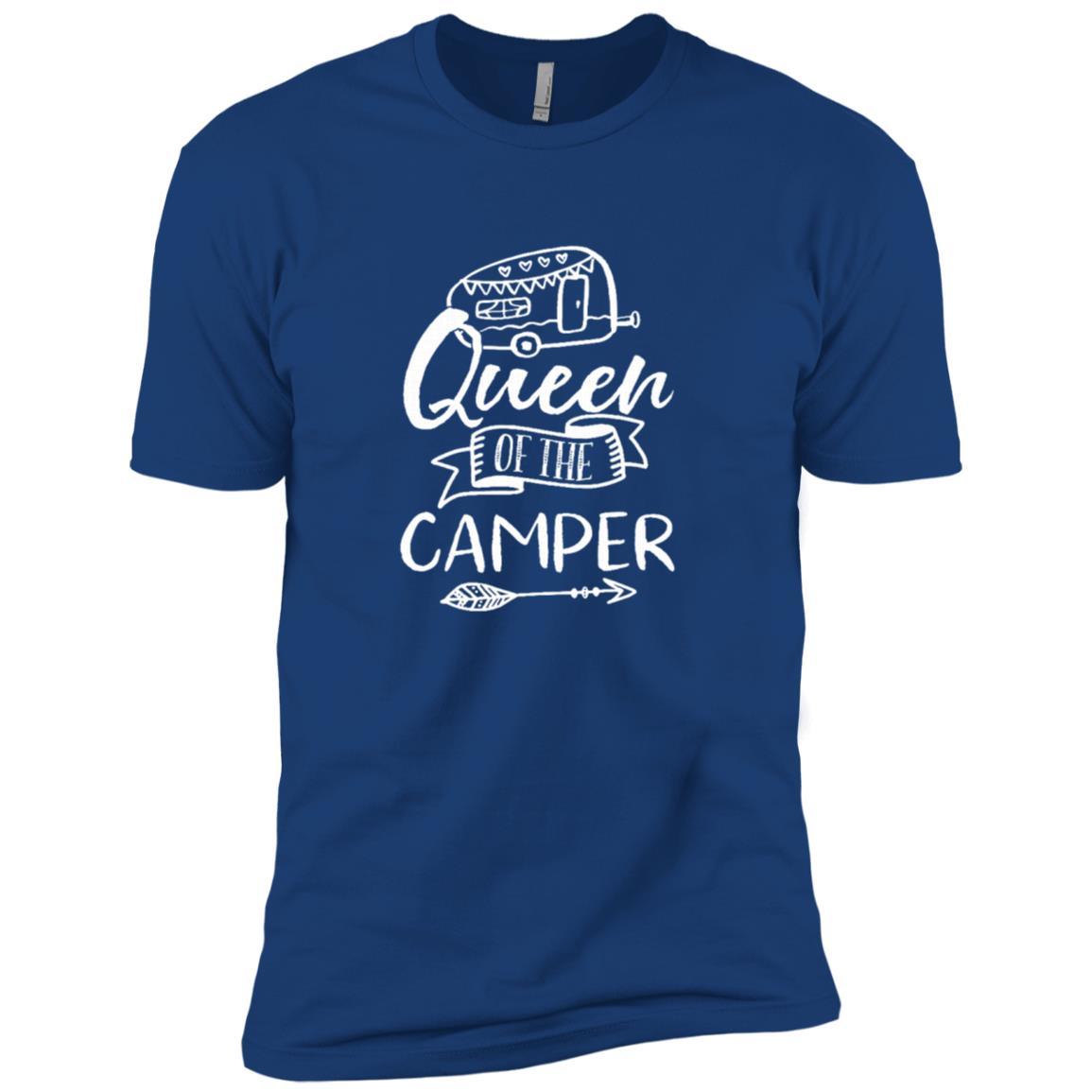 Cute Camping Queen Camper Trailer Tee Men Short Sleeve T-Shirt
