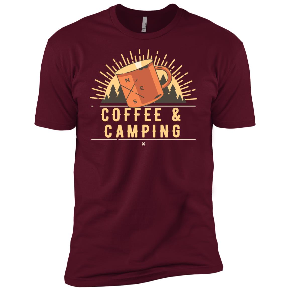 Coffee And Camping Caffeine Loving Campers Men Short Sleeve T-Shirt