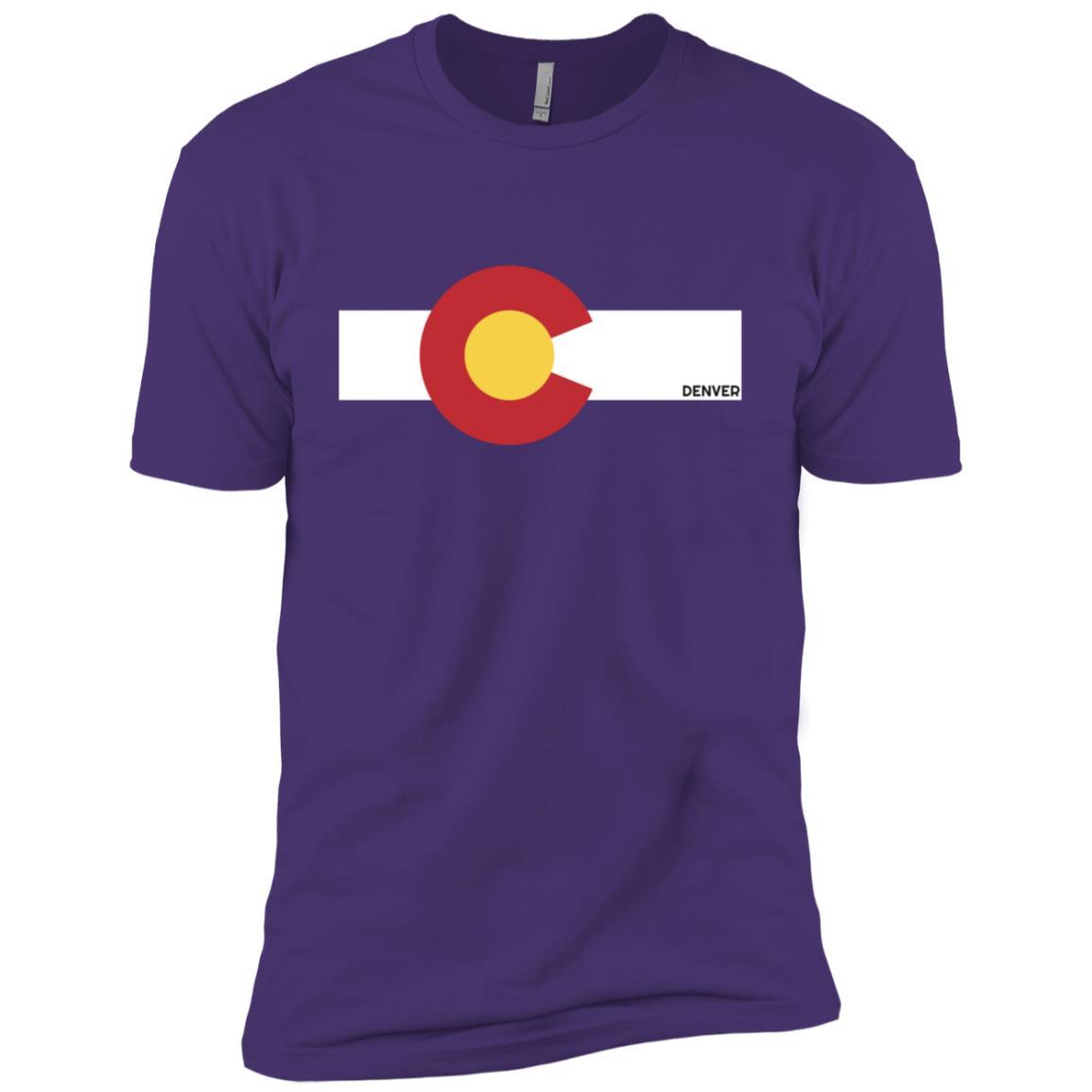 Colorado Flag x Denver, Co Men Short Sleeve T-Shirt