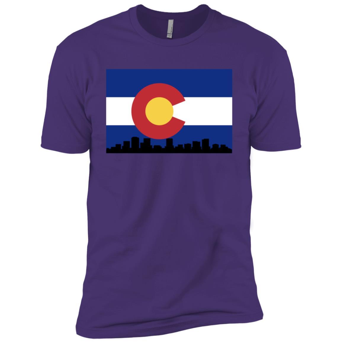 Colorado Flag x Downtown Denver Men Short Sleeve T-Shirt