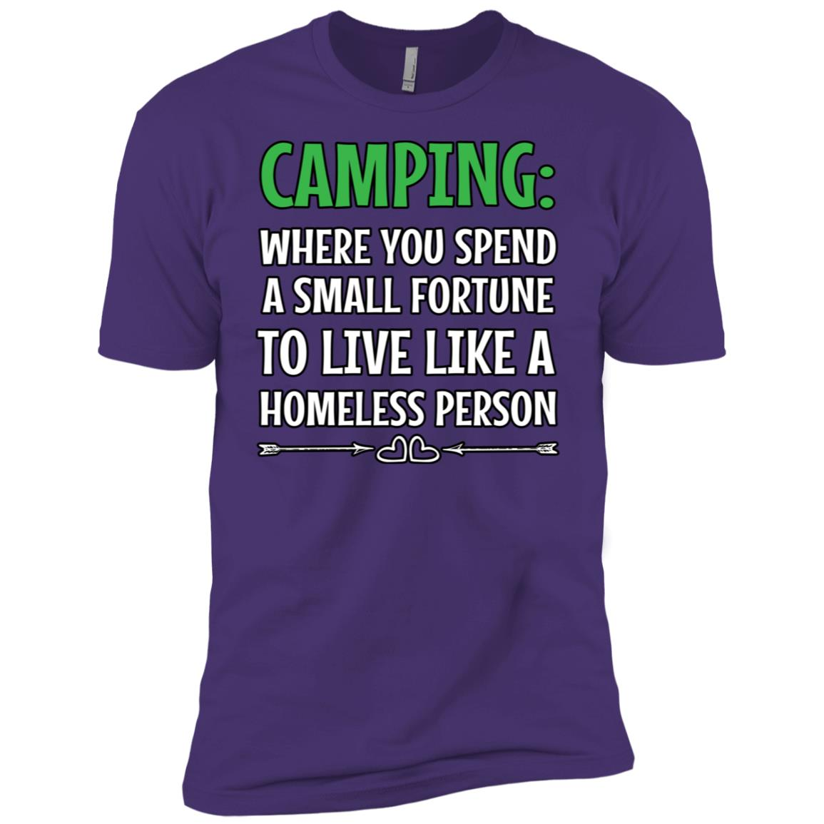 Camping Where You Spend A Small Fortune Men Short Sleeve T-Shirt