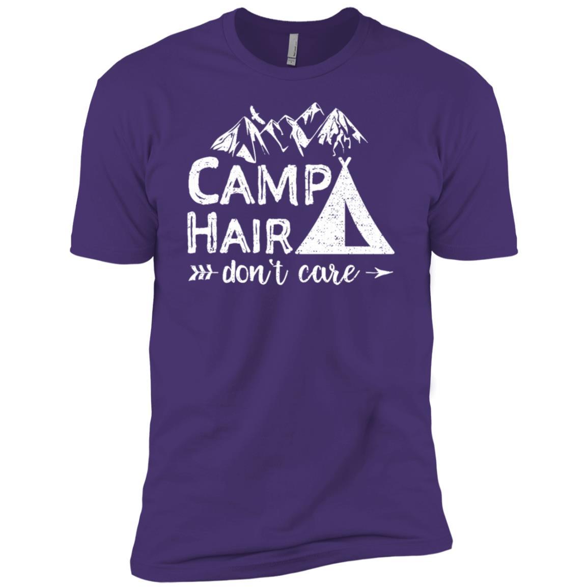 Camp Hair Don't Care Hiking Camping Men Short Sleeve T-Shirt