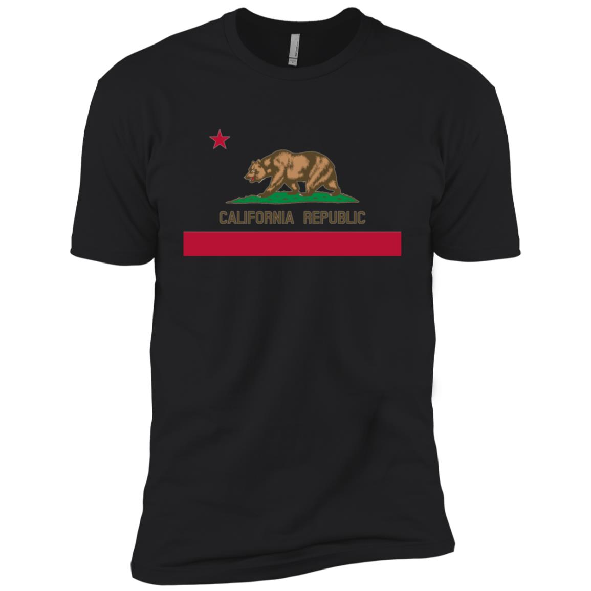California State Flag – Ca Bear Republic Men Short Sleeve T-Shirt