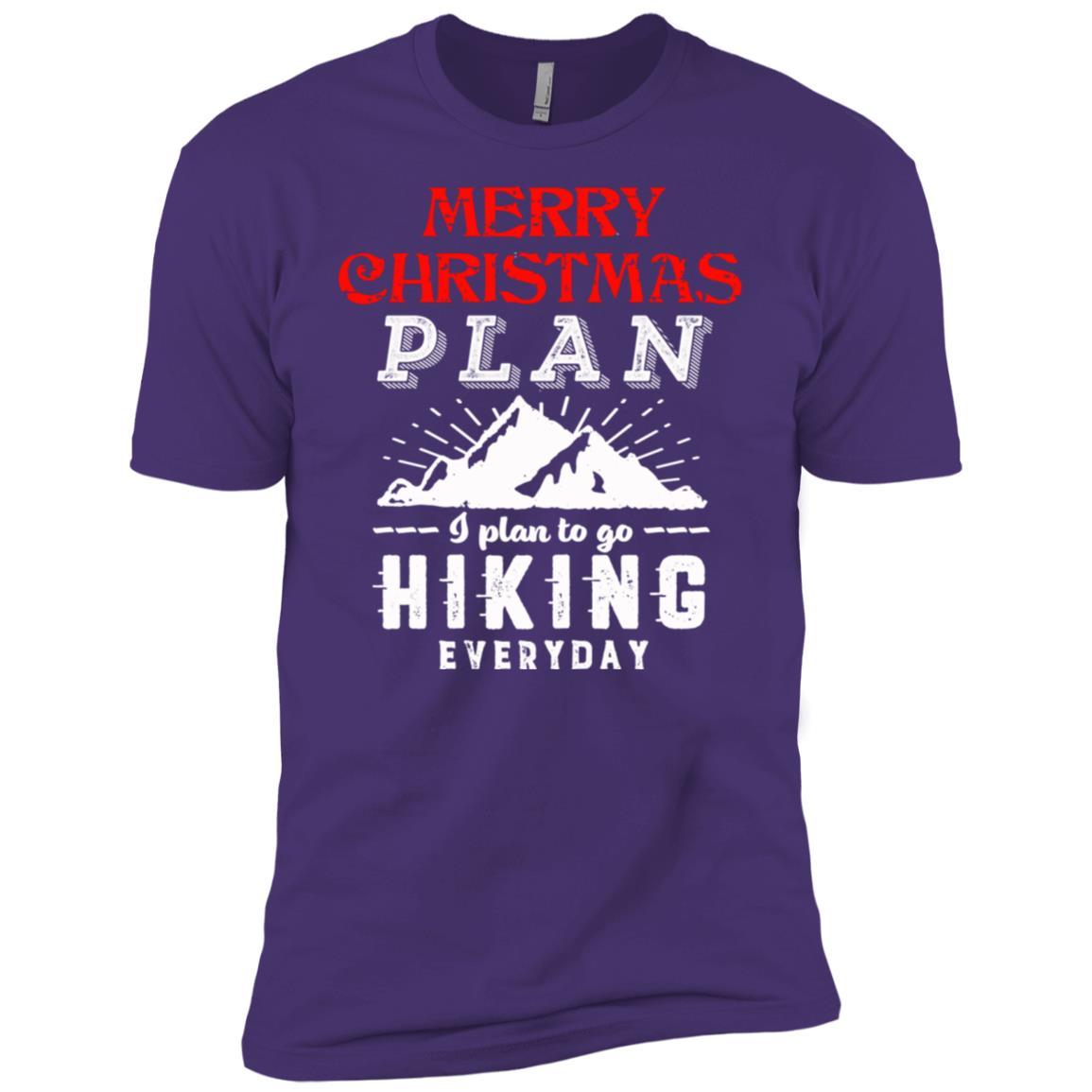 Christmas 2018 Funny Plan Go Hiking Men Short Sleeve T-Shirt
