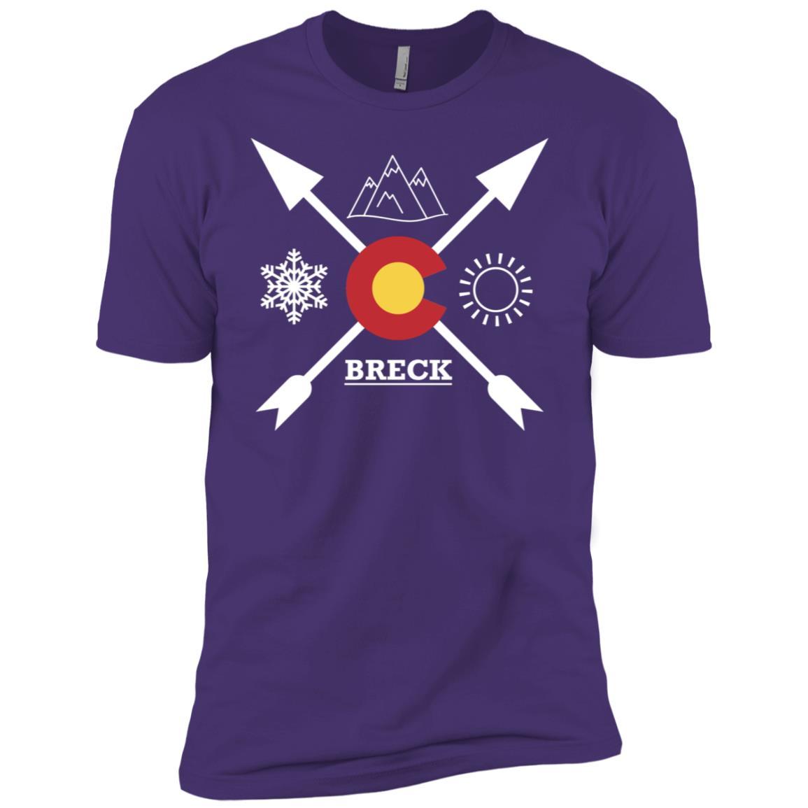 Breckenridge, Colorado Directional Men Short Sleeve T-Shirt