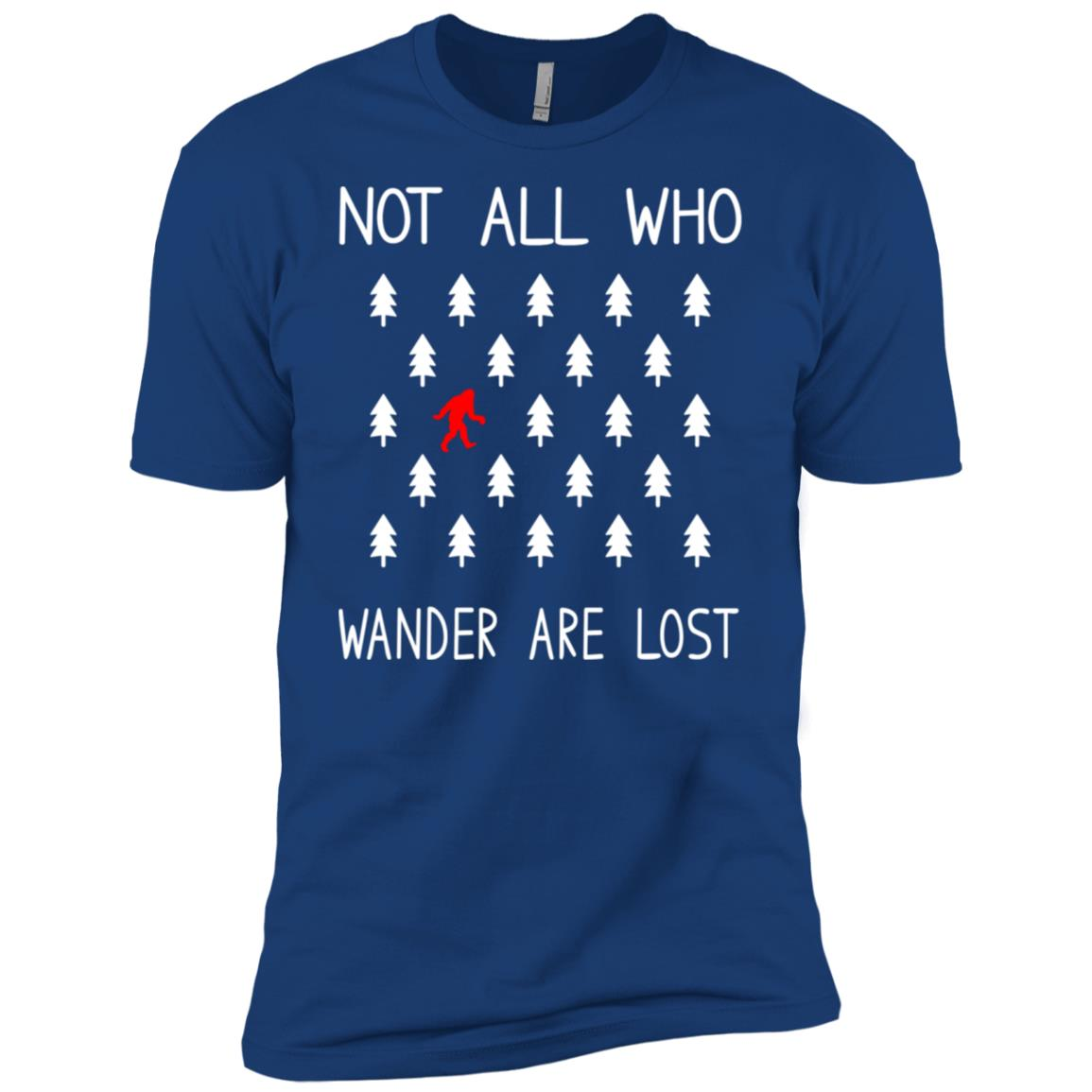 Bigfoot Not All Who Wander Are Lost Funny Gift Men Short Sleeve T-Shirt