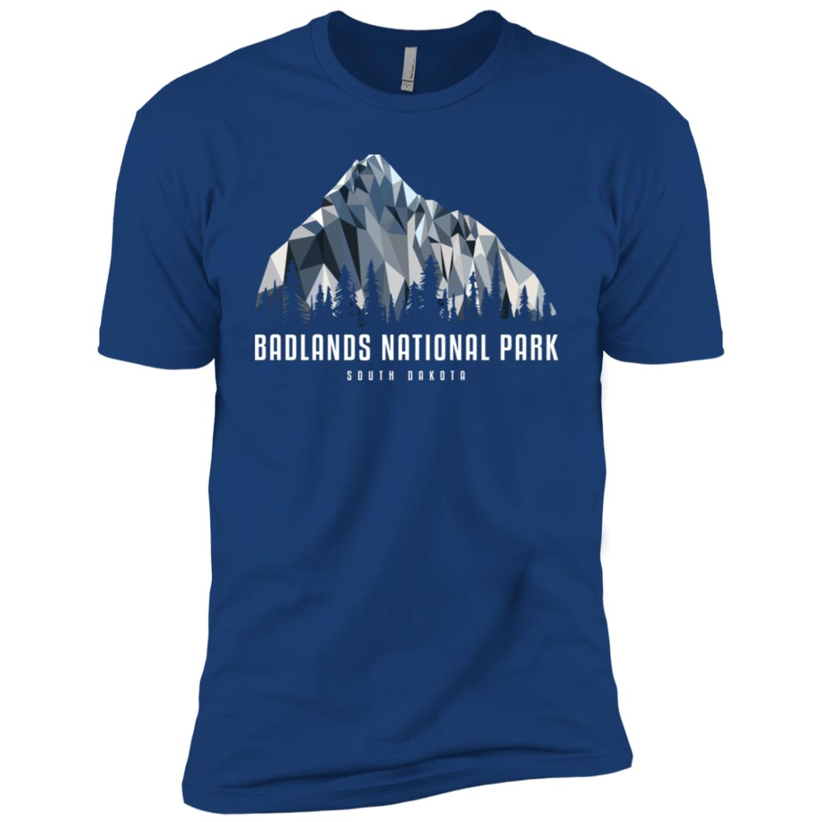 Badlands National Park Low Poly Mountains Cool Gift Men Short Sleeve T-Shirt