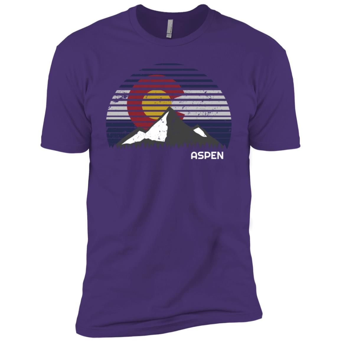 Aspen Colorado x Co Flag Mountain-1 Men Short Sleeve T-Shirt