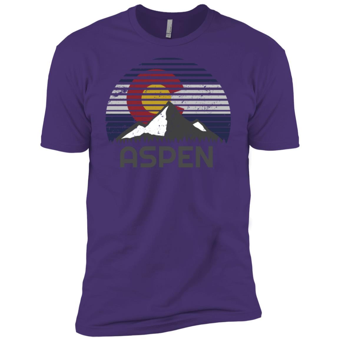 Aspen Colorado x Co Flag Mountain Men Short Sleeve T-Shirt