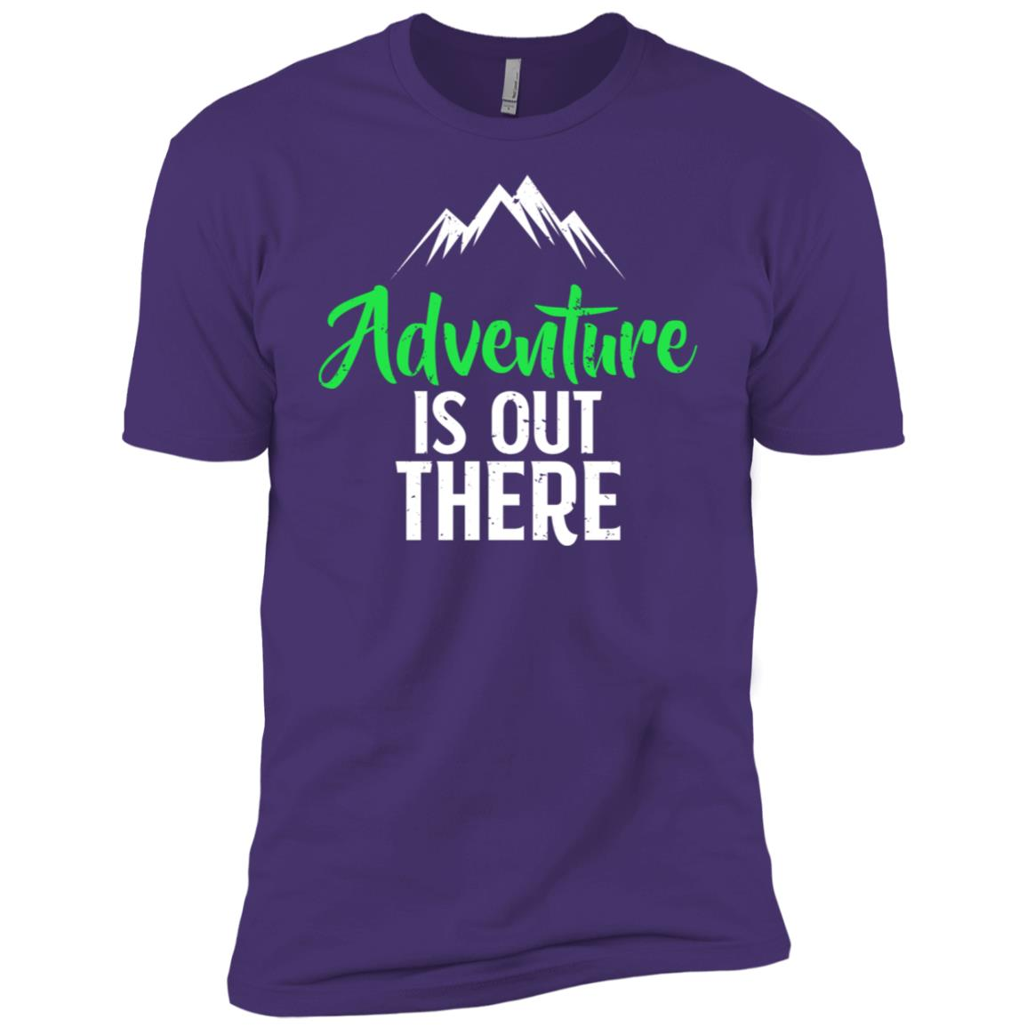 Adventure Is Out There Hiking Camping Men Short Sleeve T-Shirt