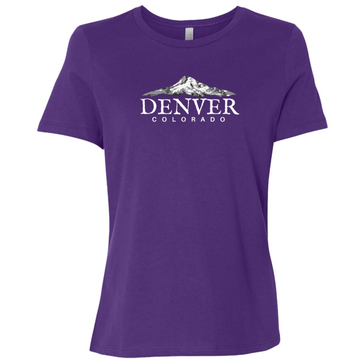 Denver Co , Colorado Mountain Town Women Short Sleeve T-Shirt