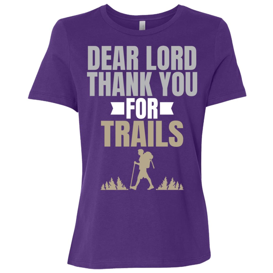 Dear Lord Thank You For Trails Woods Women Short Sleeve T-Shirt