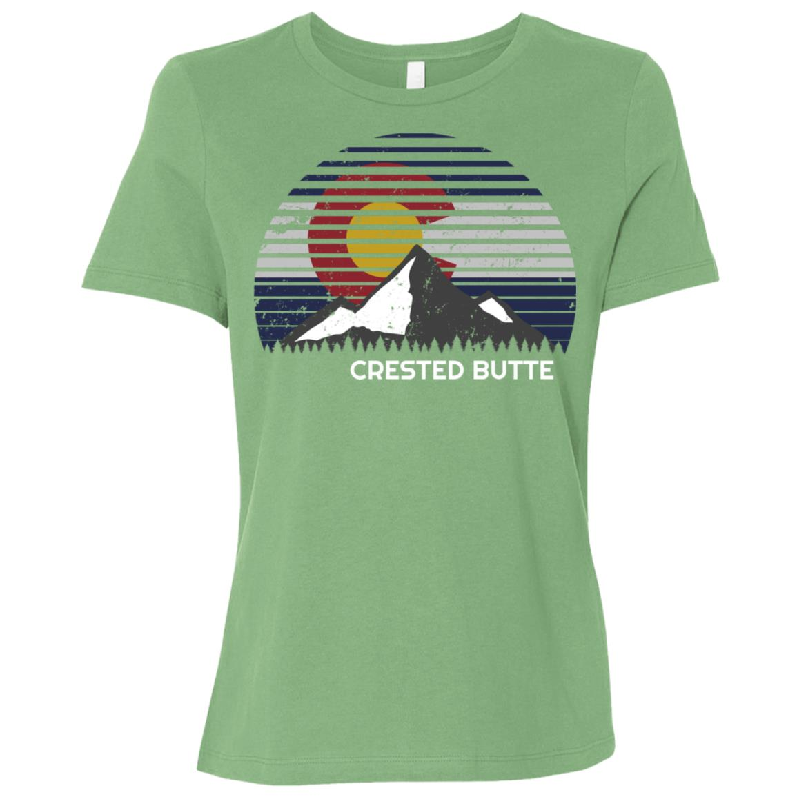 Crested Butte, Colorado x Co Flag Mtn Top Women Short Sleeve T-Shirt