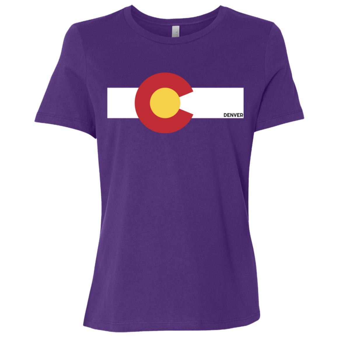 Colorado Flag x Denver, Co Women Short Sleeve T-Shirt