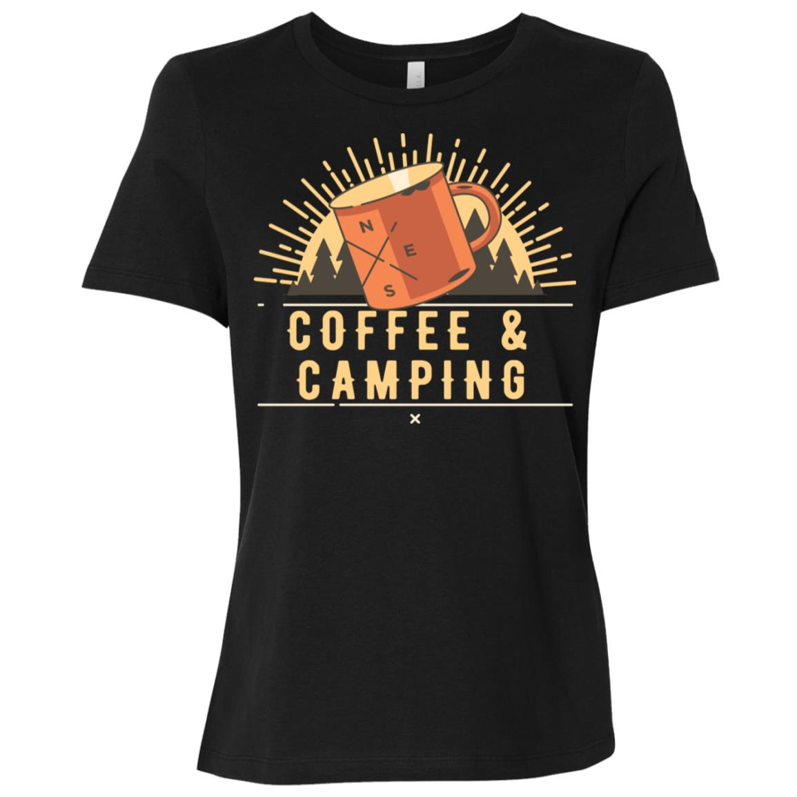 Coffee And Camping Caffeine Loving Campers Women Short Sleeve T-Shirt