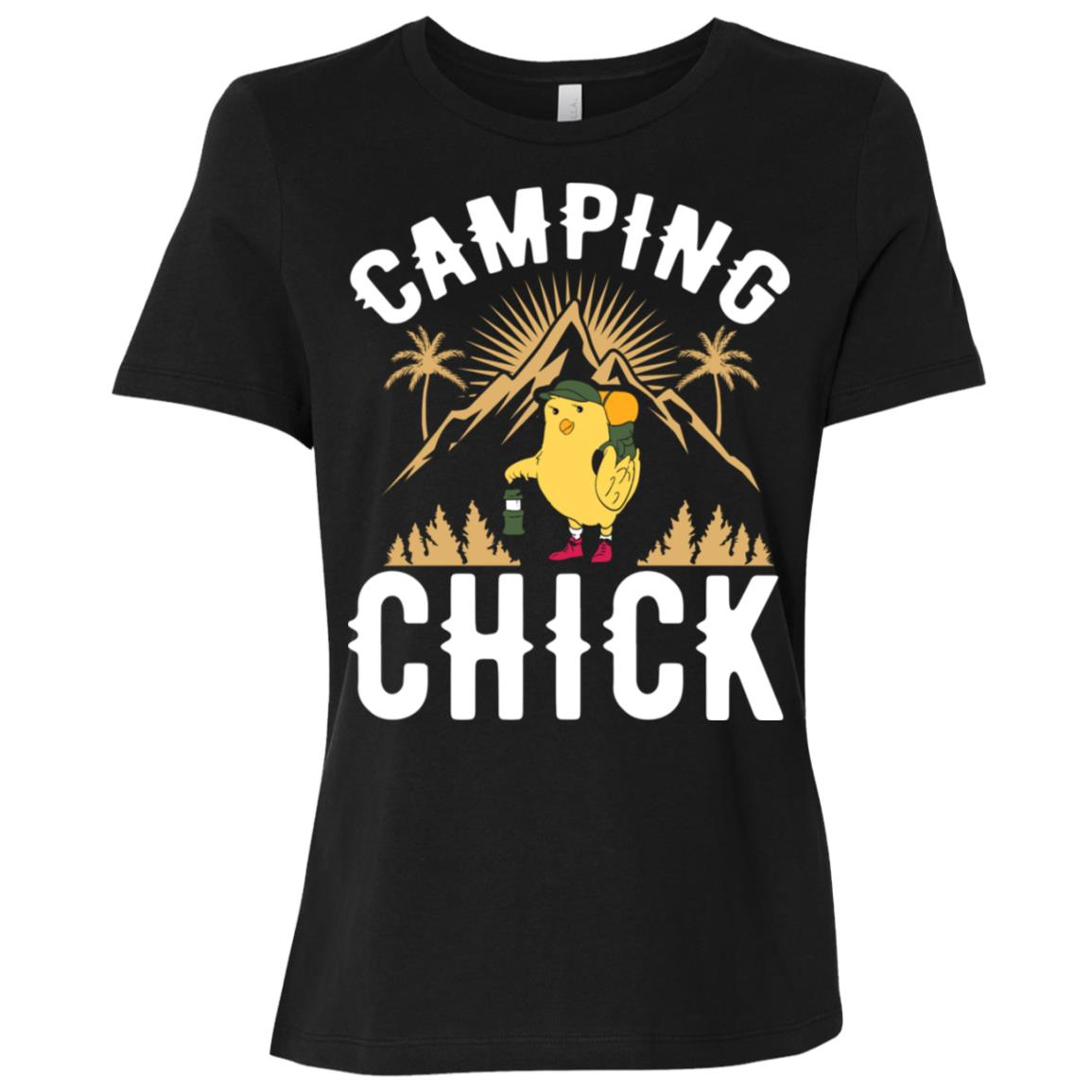 Camping Chick Camping Lovers Camper Women Short Sleeve T-Shirt