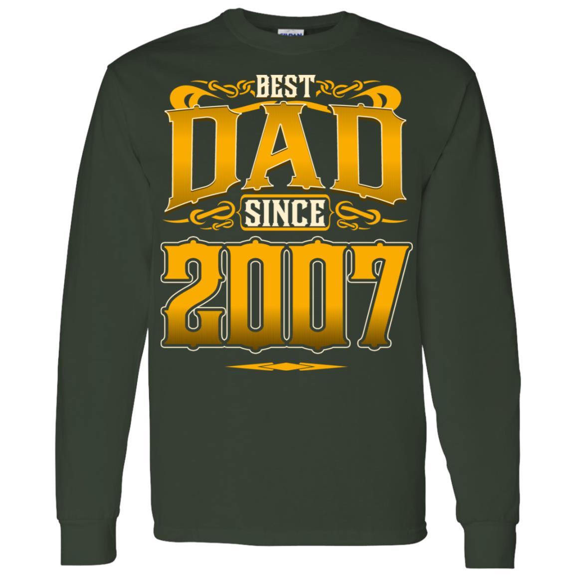 Best Dad Since 2007 I Love Stepdad Men Long Sleeve T-Shirt