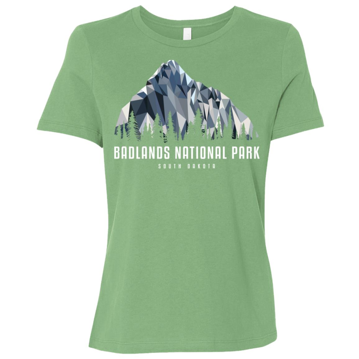 Badlands National Park Low Poly Mountains Cool Gift Women Short Sleeve T-Shirt