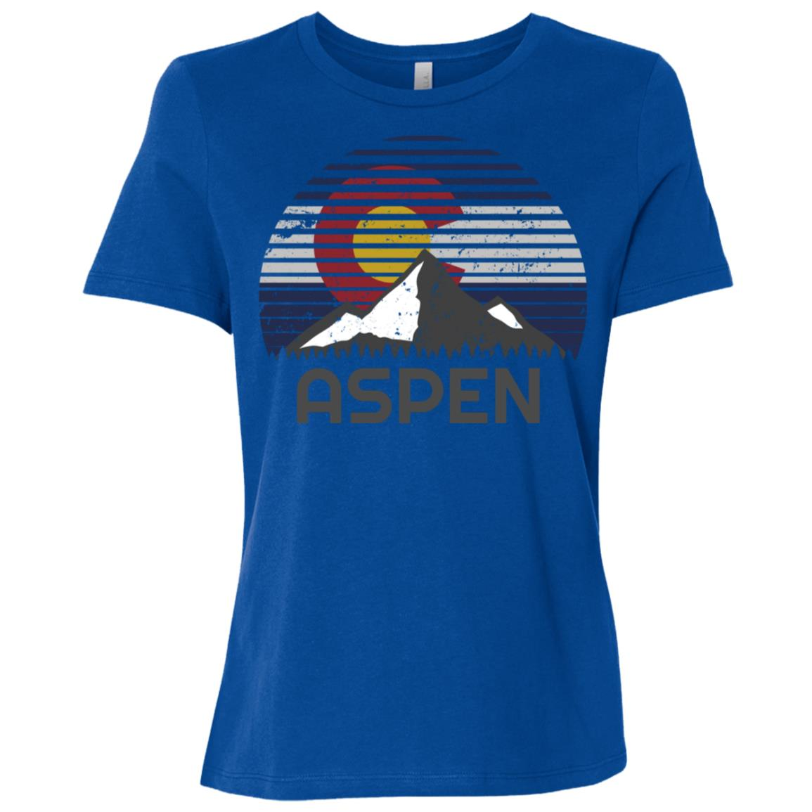 Aspen Colorado x Co Flag Mountain Women Short Sleeve T-Shirt