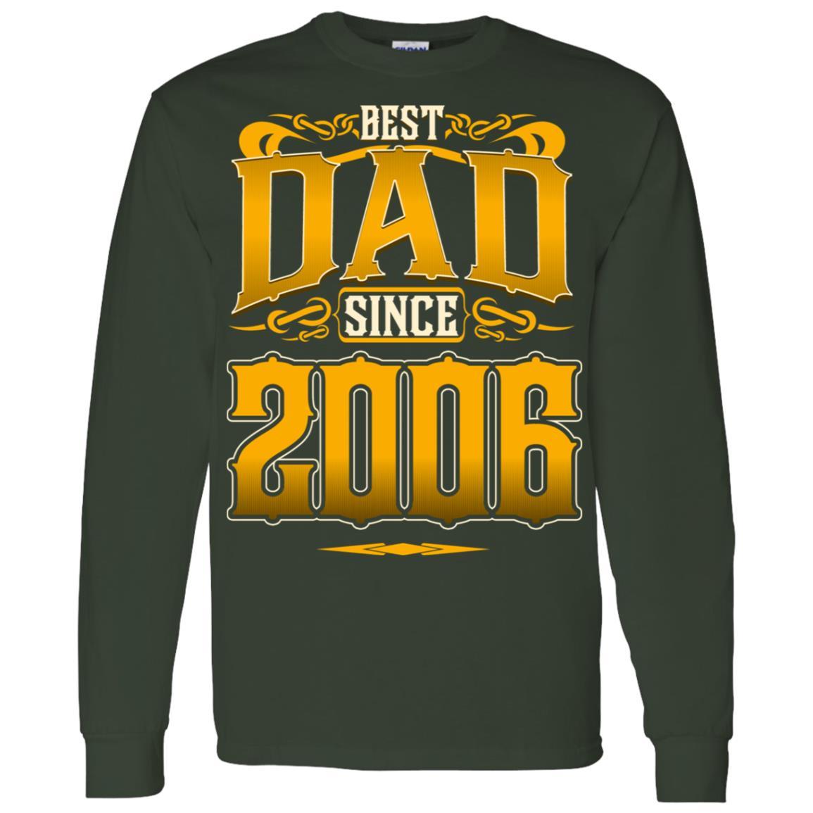 Best Dad Since 2006 I Love Stepdad Men Long Sleeve T-Shirt