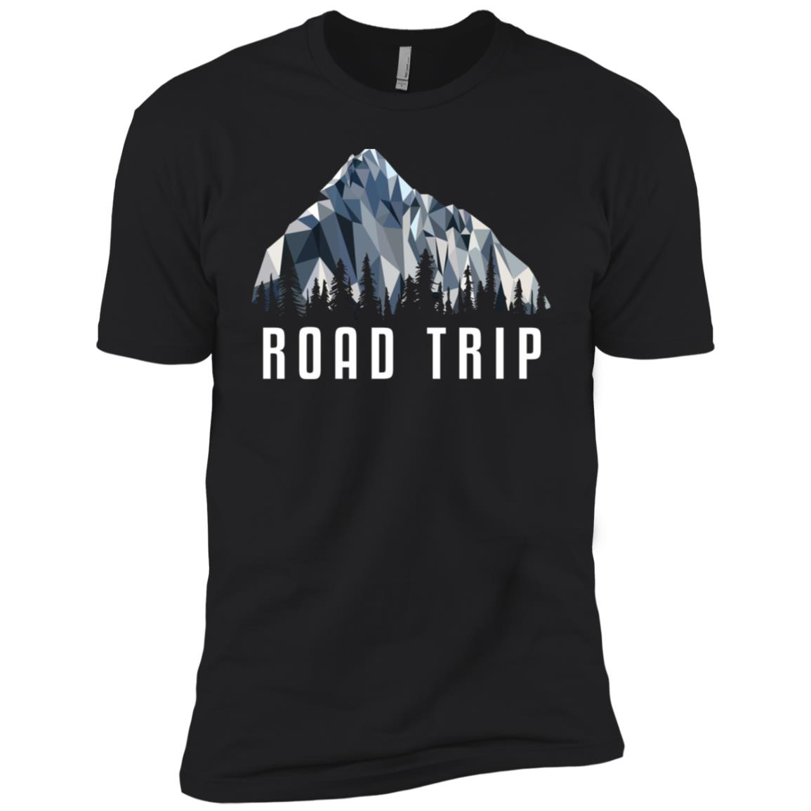 Funny Hiking Road Trip Low Poly Gift Men Short Sleeve T-Shirt