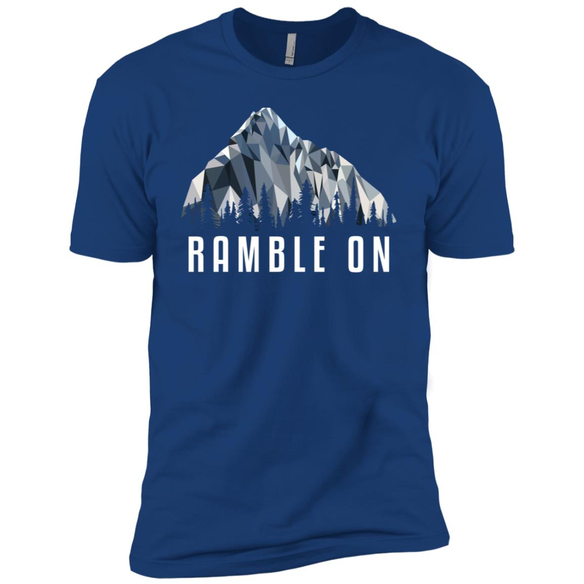 Funny Hiking Ramble On Low Poly Gift Men Short Sleeve T-Shirt